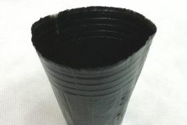 Горшок чёрный полиэтилен 12*12см для рассады