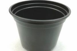 Горшок круглый 12*10,5см чёрный 0,8л
