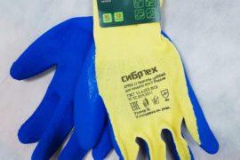 Перчатки рабочие х/б с рельефным покрытием XL